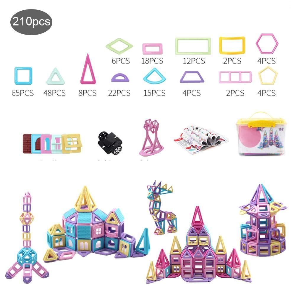 per Bloques Magnéticos de Construcción Juguetes Puzzles Rmpecabezas Tridimensionales para Niños Infantiles Regalo de Cumpleaños