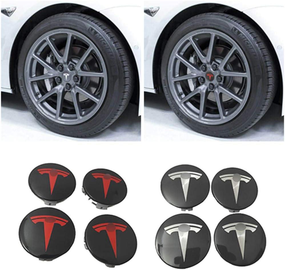 ranninao S /& X Aero Juego de Tapa de Cubo Rueda,Protectora del Perno para Tesla Modelo 3