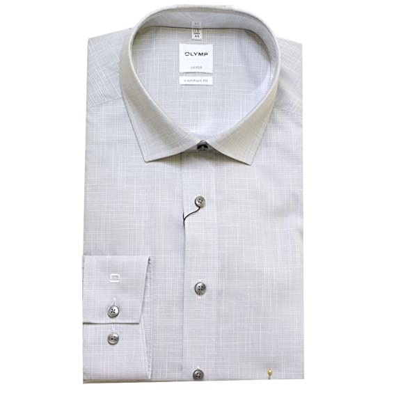 good service outlet boutique huge discount OLYMP Shirt 1022 Blue Or Stone 16.5 Stone: Amazon.co.uk ...
