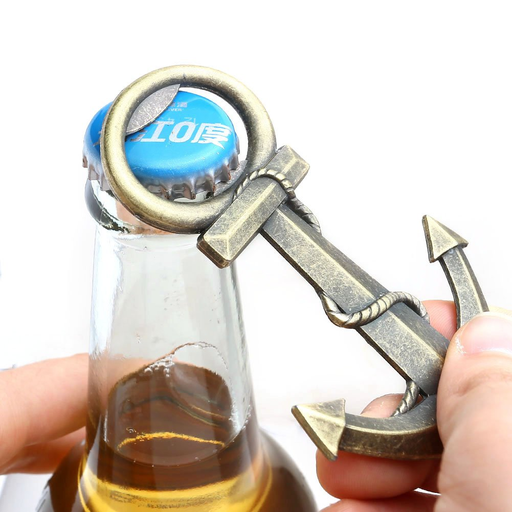 Bottle Opener ,Yerwal Stainless Steel Special Anchor Shape Size Casino Beer Bottle Opener for Your Wallet