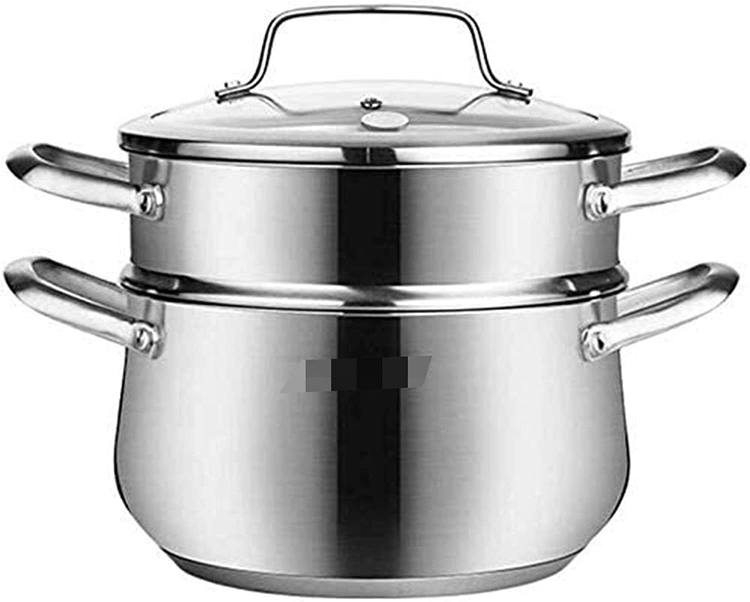 NBBB Steamer Pan Set 3 Tier Stainless Steel Uncoated Composite Bottom Steamers Induction Hob Gas Universal Stock Pot 1218 (Size : 20cm)