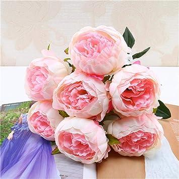 Taottao 1 Blumenstrauss Vintage Kunstliche Pfingstrose Seidenblumen
