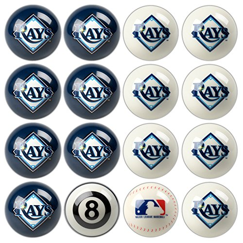 Set Billiard Devils Ball - Imperial Officially Licensed MLB Home vs. Away Team Billiard/Pool Balls, Complete 16 Ball Set, Tampa Bay Rays