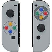 eXtremeRate Soft Touch Grip SFC SNES Classic EU Style Joycon Handheld Controller Housing with Coloful Buttons, DIY…