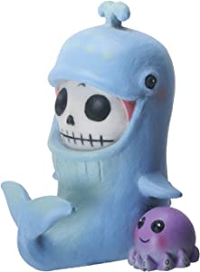 SUMMIT COLLECTION Furrybones Moby Signature Skeleton in Whale Costume with an Octopus