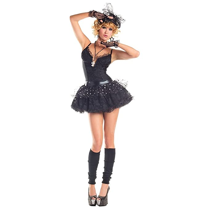 Amazon Gsg Madonna Costume Adult 80s Pop Star Material Girl
