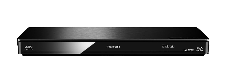 Panasonic DMP-BDT384EG Blu-ray (4K upscaling, lecteur DLNA é quipe, WiFi, la ré solution Ultra DH, la lecture 4K JPEG, processeur dual core 3D, port HDMI, USB, PC / NAS) noir lecteur DLNA équipe la résolution Ultra DH