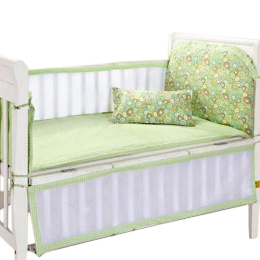 Set of 4 Nursery Baby bassinet/Crib Bedding Bumper Kids Safety Cushion Bowknot