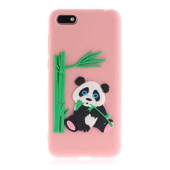Amazon com: AIIYG DS,Huawei Y5 2018 Rubber Case,Panda