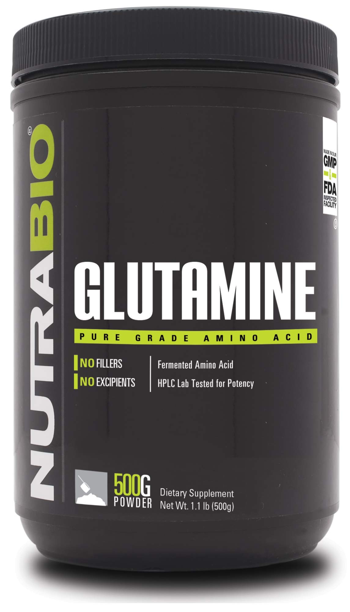 NutraBio L-Glutamine Powder - 500 Grams by NutraBio