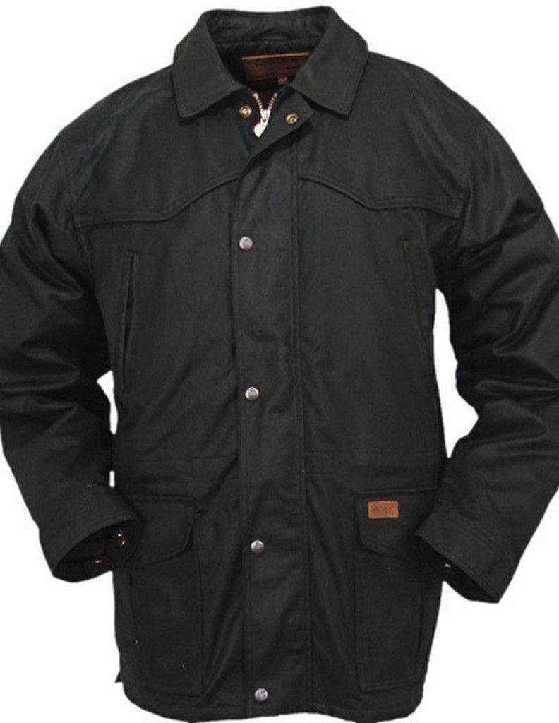 Outback Trading Pathfinder Black Oilskin Jacket 2707-BLK, L
