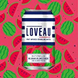 LOVEAU Infused Sparkling Water Watermelon Flavour. 24 x 330ml Can case