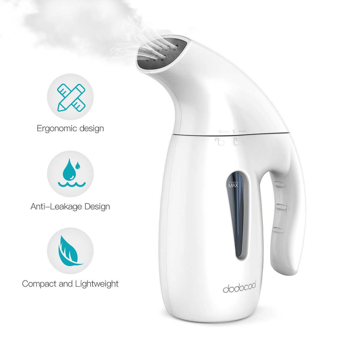 dodocool ,2018 New Technology- Steamer for Clothes-180ML, 5-in-1 Steamer Clothes,Garment Steamer,Fabric Steamer,Travel Steamer,Handheld Steamer Wrinkle Remover Automatic Shut-Off Safety Protection by dodocool