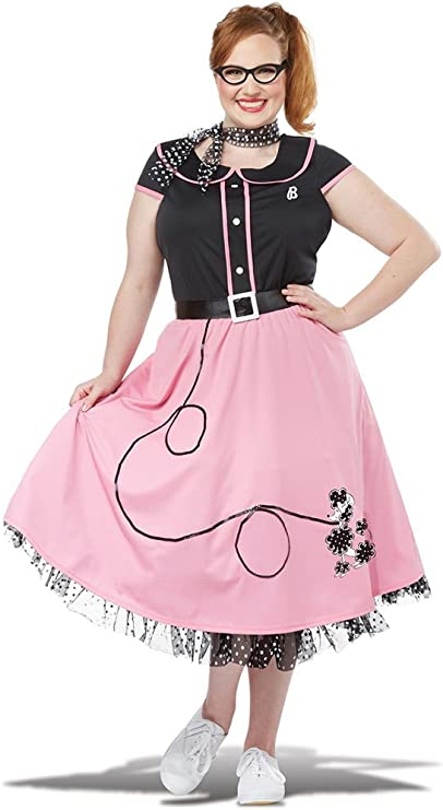 1950s Costumes- Poodle Skirts, Grease, Monroe, Pin Up, I Love Lucy California Costumes Womens 50S Sweetheart Plus Costume $69.88 AT vintagedancer.com