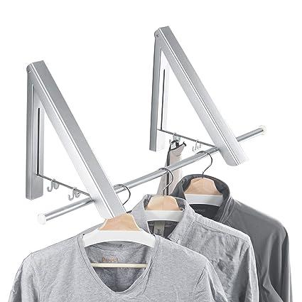 Beau BESy Folding Clothes Hanger Adjustable Drying Rack Retractable Coat Hanger  Home Storage Organiser Instant Closet,