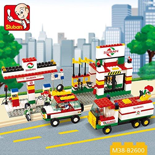 Sluban City Scene Gas Station Toy Set  435 Pieces