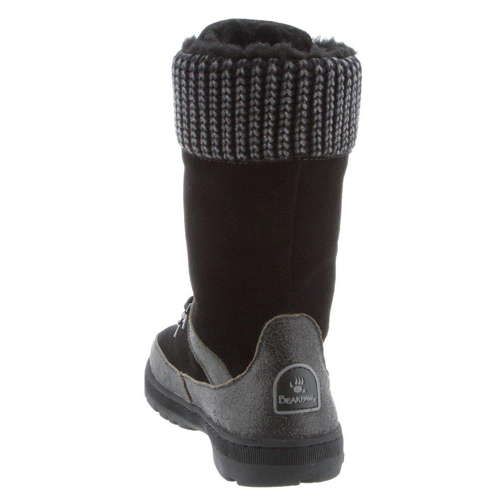 BEARPAW Women's Serena Suede, Sheepskin Snow Boots B00TE1PGQ4 7 B(M) US Black