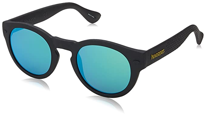 Unisex Trancoso/M Z9 O9N Sunglasses, Black/Grey, 49 Havaianas