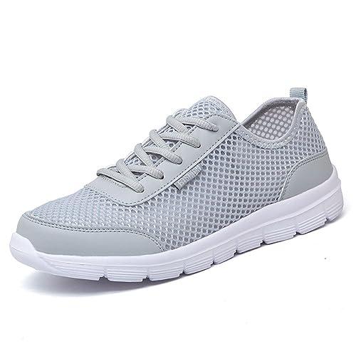 Hombres Zapatos de Deportivas Aqua Verano Playa Malla Zapatillas Para Caminar Negro Azul Gris 35-46: Amazon.es: Zapatos y complementos