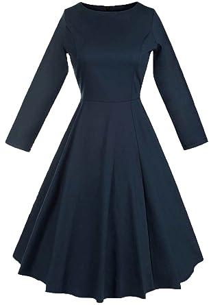 sélectionner pour dernier dernière sélection le dernier Wenseny Femme Robe Années 50 Vintage Classique Manches ...