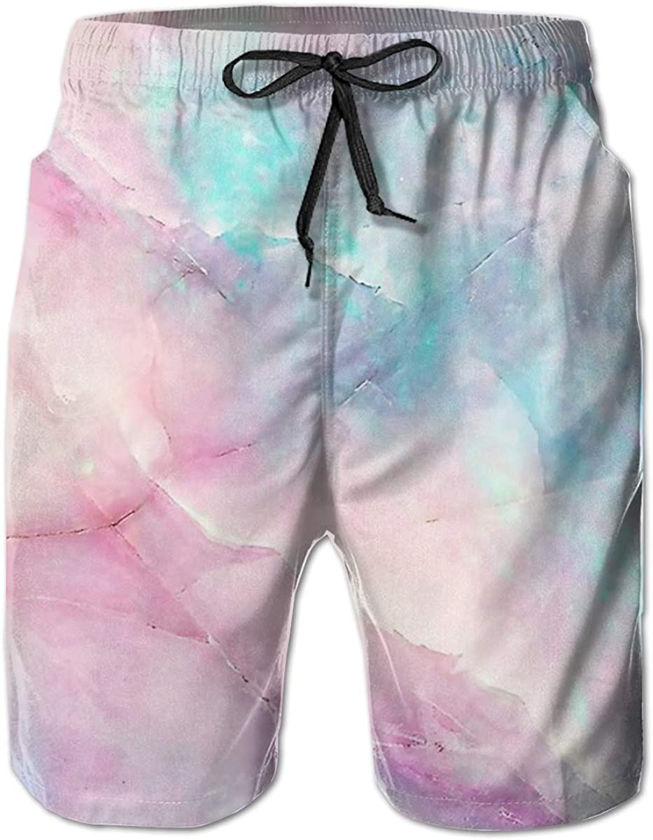 Marble Seal of Guam Mens Beach Pants Quick Dry Surfing Beach Shorts