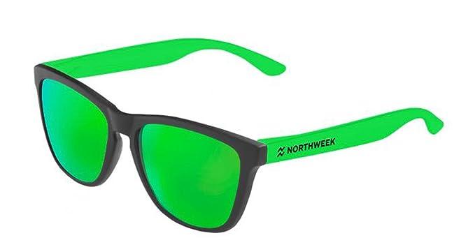 895c70f0fbd93c Lunettes de soleil Northweek  quot CUSTOMIZE IT quot  Noir mat - vert fluo  - vert