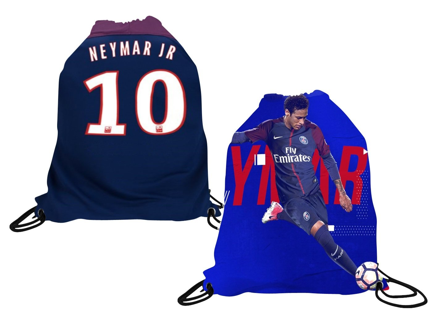Neymar Jersey Style T-shirt Kids Neymar Jr Jersey PSG T-shirt Gift Set Youth Sizes ✓ Premium Quality ✓ Lightweight Breathable Material ✓ Soccer Backpack Gift Packaging