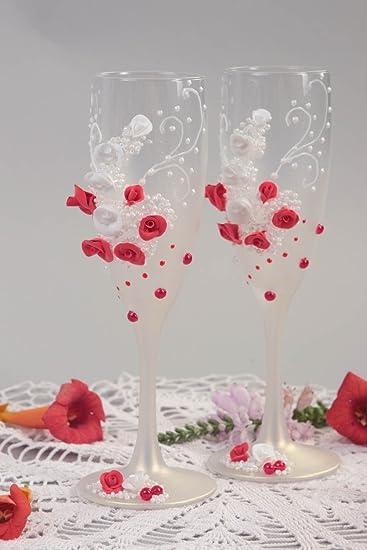 Hochzeit Sektglaser Handmade Hochzeit Glaser Tischdeko Hochzeit