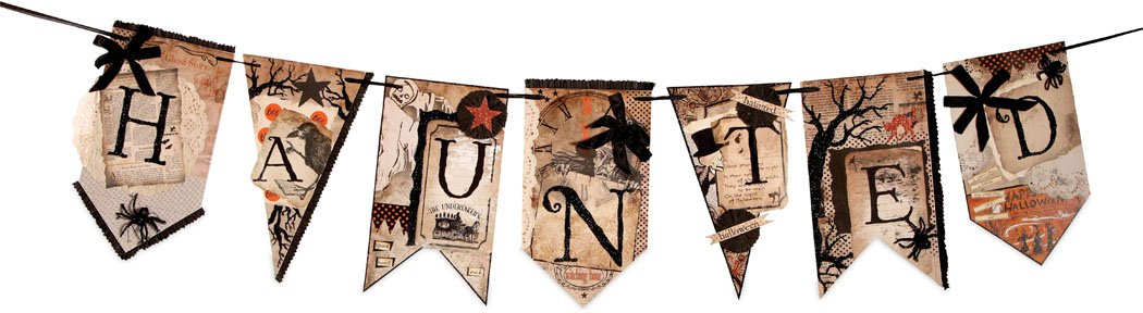 Into the Haunted Woods Pennant Garland
