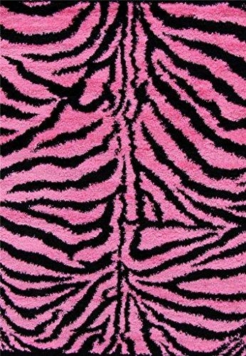 Shag Zebra Pink Modern Area product image