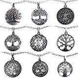 OhDeal4U Tree of life Pagan Celtic Yggdrasil Bonsai pewter pendant Stainless Steel Chain Necklace