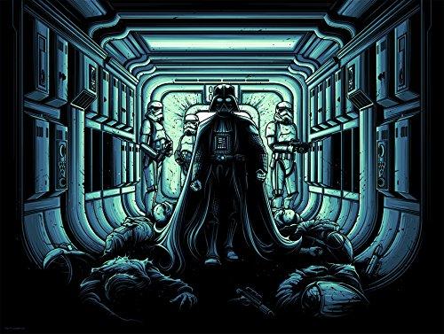 Star Wars Limited Edition Silkscreen 460mm x 610mm (45,7x 61cm)–intitulée 'I trouver votre Manque de Foi déranger' par Dan Mumford