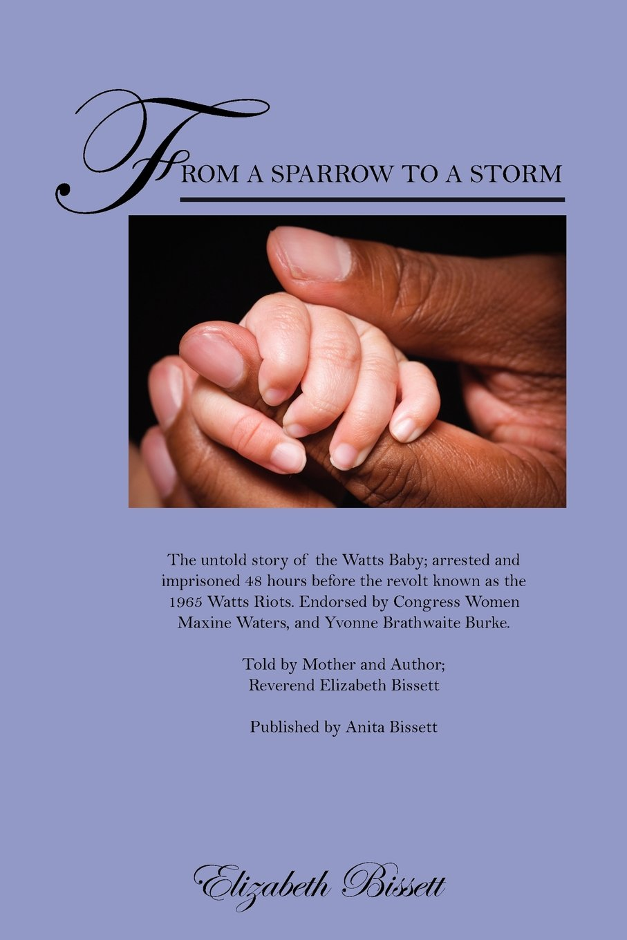 From a Sparrow to a Storm: The untold story of the Watts Baby; arrested and imprisoned 48 hours before the revolt known as the 1965 Watts Riots. ... Brathwaite Burke. Told by Mother and Author;