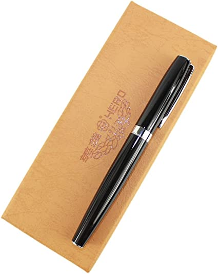 Gullor de lujo de arte medio fuente plumilla negro, viene con la caja original: Amazon.es: Oficina y papelería