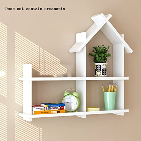 . Amazon com  ALUS  Creative Room Type Wooden Wall Shelves Floating