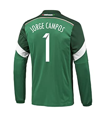 Adidas JORGE CAMPOS #1 Mexico Home Jersey World Cup 2014 (Long Sleeve) (