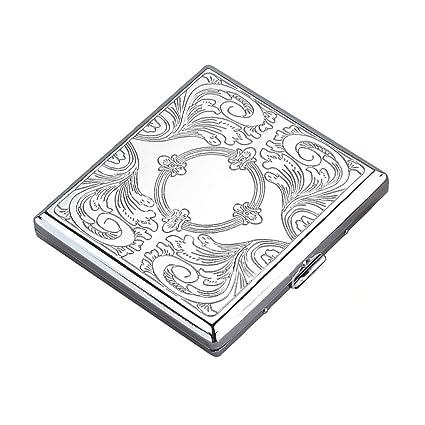 NUEVO metal pitillera Caja de Cigarrillos Mantiene 20 ...