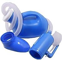 YUMSUM Femme Mâle Unisexe Lit Urinoir commun Potty Pee Bouteille Collecteur Voyage Toilette 1000ML avec 1M Tuyau (S,Bleu)