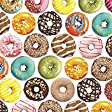 Jillson Roberts 6-Roll Count Premium Gift Wrap Available in 19 Different Designs, Donuts