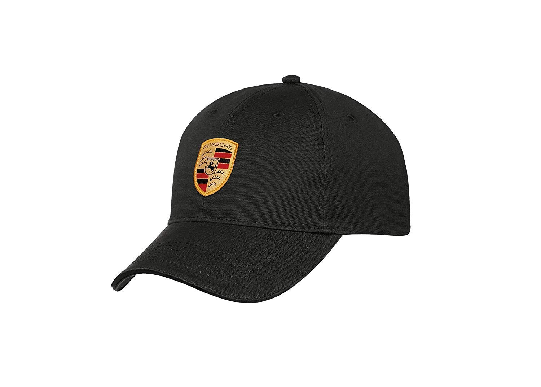 Porsche Black Crest Logo Cap, Official Licensed