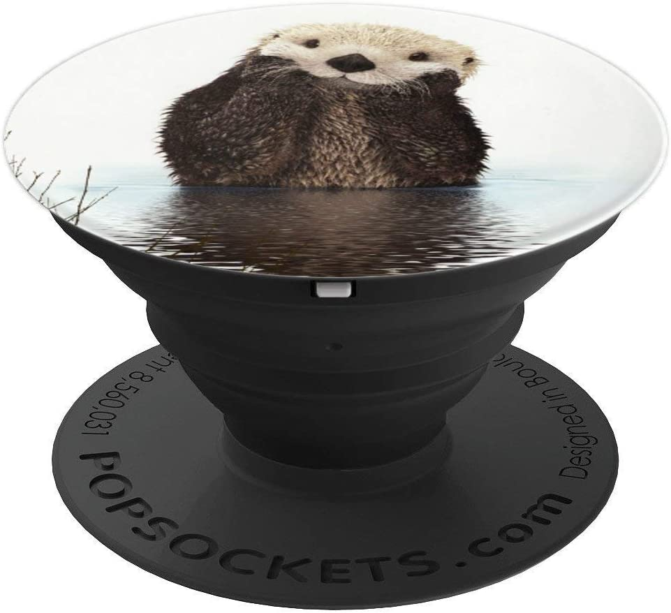 Amazon Com Adorable Sea Otter Popsockets Grip And Stand For Phones And Tablets