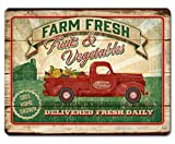 County Farm Fresh Fruits & Vegetables Glass Cutting Board