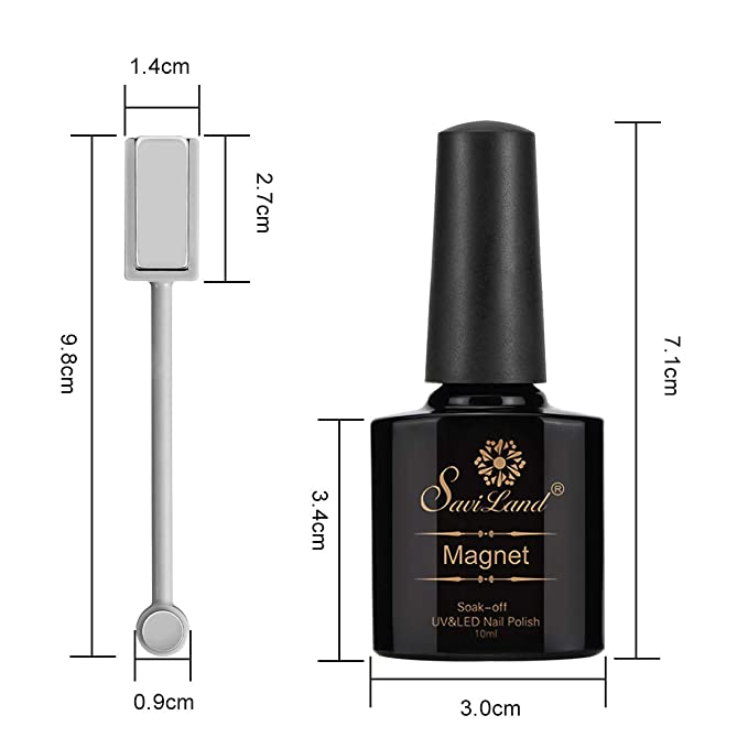 Juego de 6 uñas de gel de ojo de gato de la serie roja, Saviland Soak Off UV/LED magnético para manicura de uñas 10 ml + barra de imán: Amazon.es: Belleza