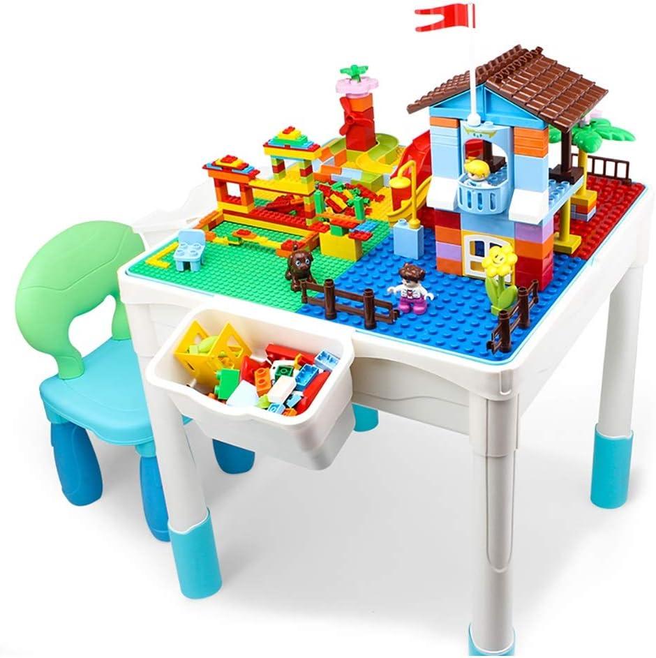 Mesa de Juego Mesa De Bloques De Construcción para Niños Multifunción Juguetes para Niños Y Niñas Juguetes Educativos Gránulos Juguetes Ensamblados Regalos para Niños: Amazon.es: Hogar