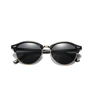 076fc0d663 Amazon.com  Sunglasses Mens Womens Brand Designer Club Round Glasses  Classic Sun glasses Driving Semi Rimless Eyewear