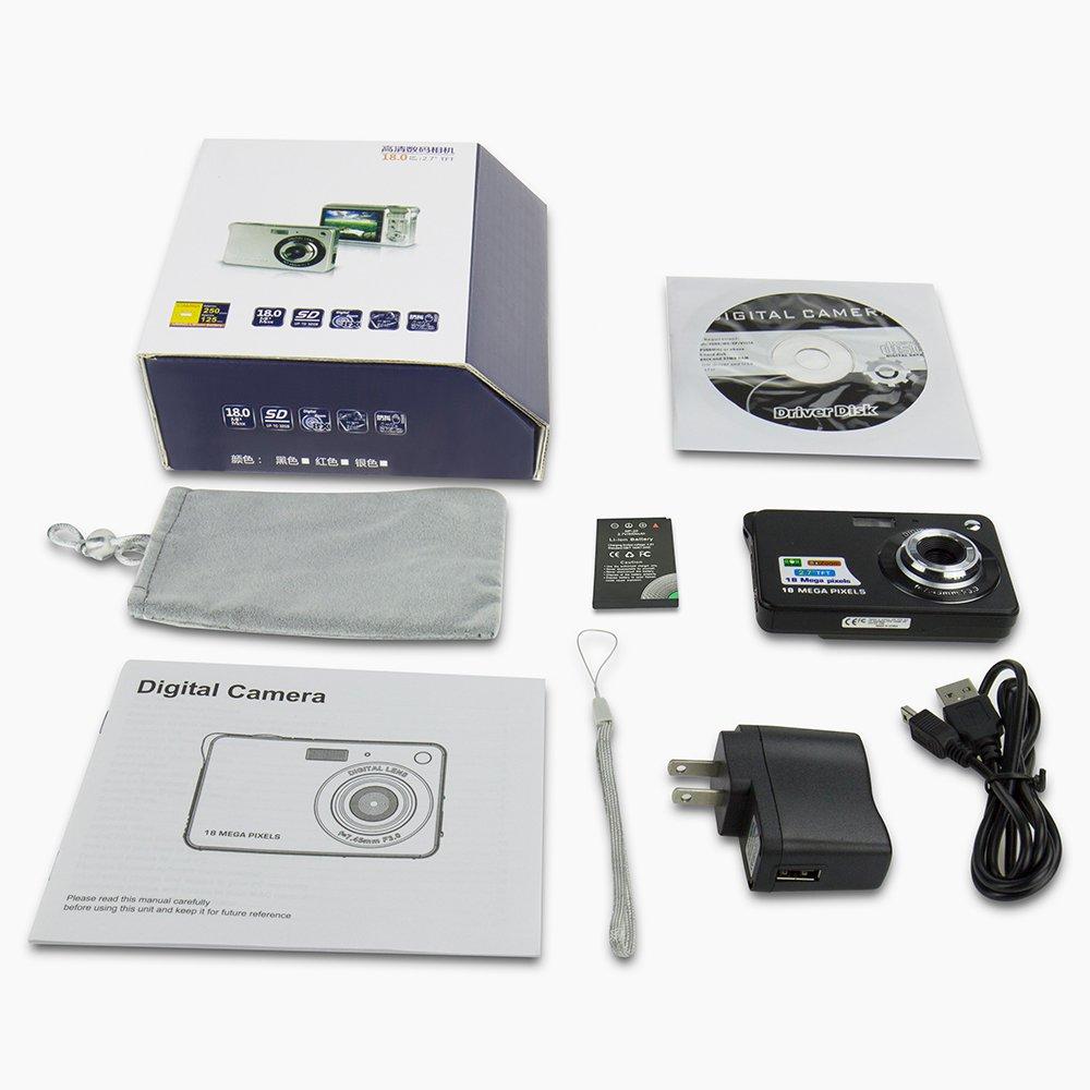 Yasolote HD Mini Point Shoot Digital Camera Video Recorder Cameras Sports,Travel,Holiday,Birthday Present by Yasolote (Image #9)