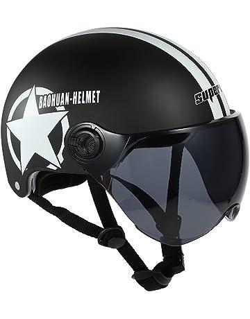 b6aa997b8 KKmoon Casco de Moto Abierto Ajustable con Visera Casco de Protector
