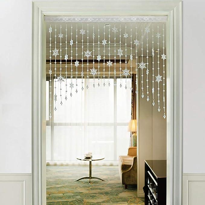 GuoWei Arco Forma Cortinas de Cuentas Tabique Puerta Decoración Salón Dormitorio Armario Colgando Cuerdas Tabique, Personalizable (Color : B, Size : 55 stands-220cmx100cm): Amazon.es: Hogar