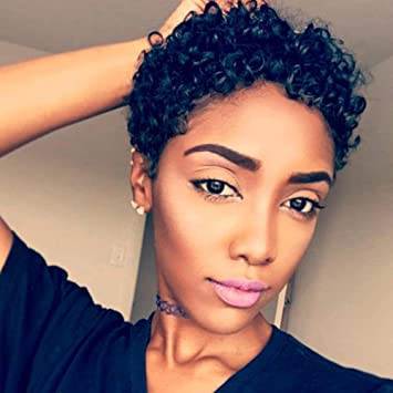 Amazon Com Beisd Short Afro Kinky Curly Haircuts Short