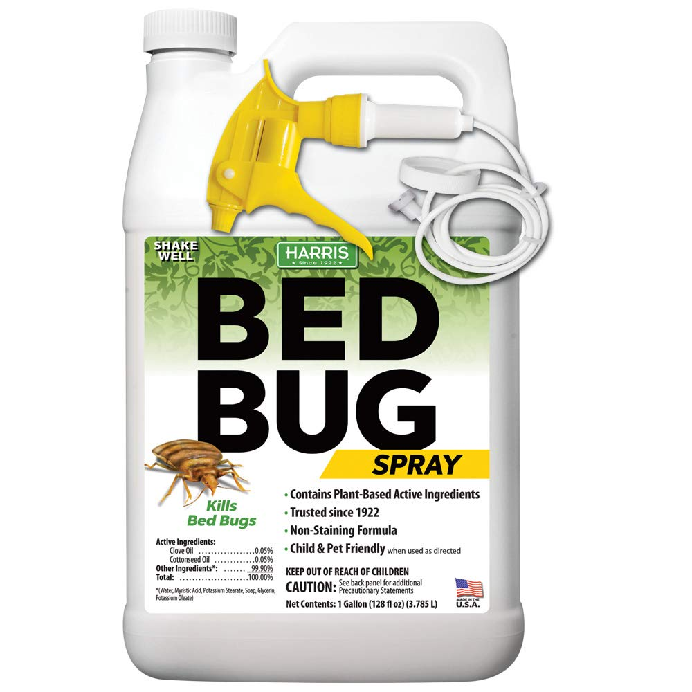 Harris Plant Based Bed Bug Killer, Fast Acting Spray with Extended Residual (Gallon) by Harris